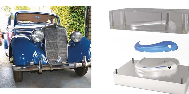 Pezzi per auto stampati in 3D al Gottardo Classic