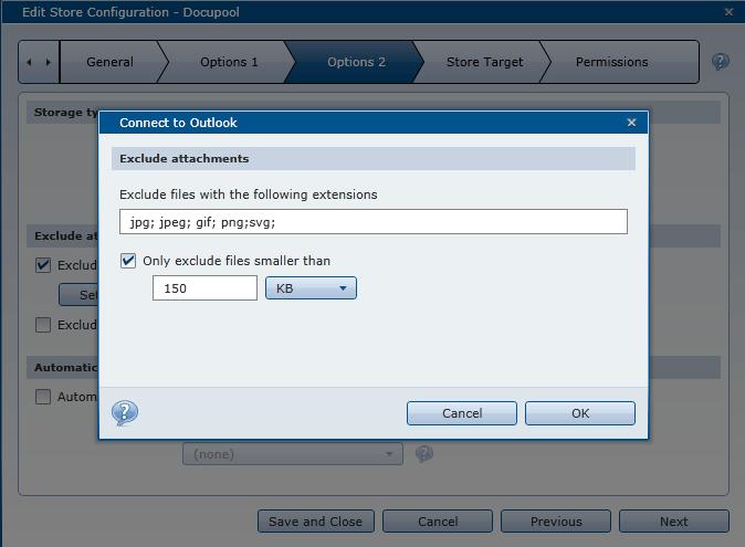 Impostazioni E-Mail con DocuWare