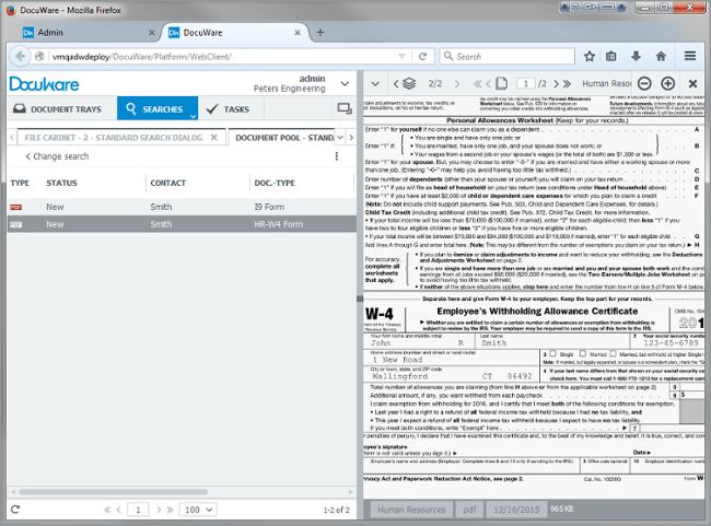 Archiviazione dei form di DocuWare