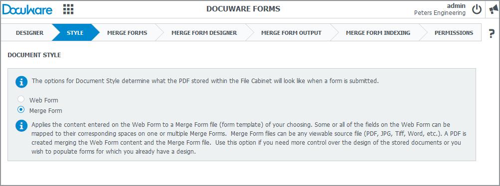 Creare e unire i form di DocuWare