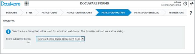 Merge output per i form di DocuWare