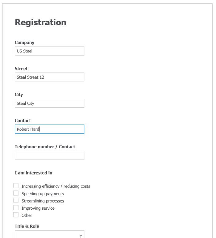 Compilazione form cartacei con DocuWare