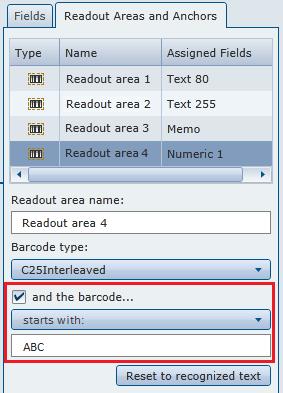 Filtrare i codici a barre in DocuWare