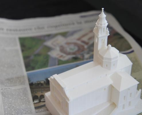 Modellino 3D della Chiesa di Carona