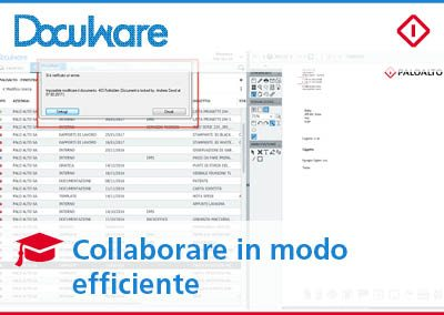 Collaborazione efficiente: modificare un documento in DocuWare