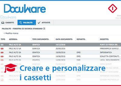 Come creare e personalizzare i cassetti in DocuWare