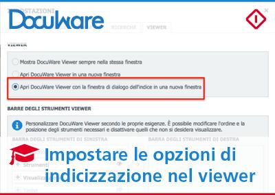 Indicizzazione nel viewer di DocuWare per lavorare sui tuoi documenti