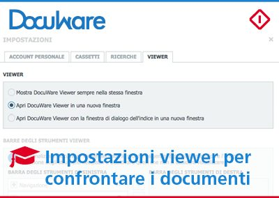 DocuWare Viewer: le impostazioni per confrontare i documenti