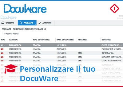 Come personalizzare DocuWare: uno spazio di lavoro adatto alle tue esigenze!
