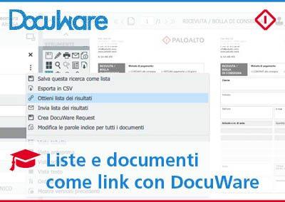 Condividere documenti e liste come link con DocuWare: un modo semplice e veloce di inviare i risultati delle tue ricerche