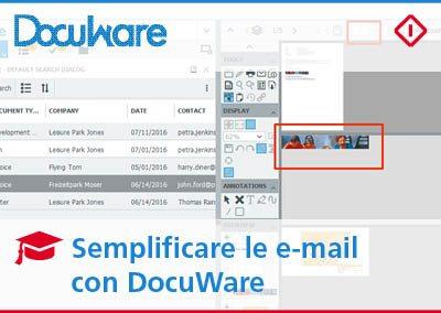 Come semplificare l'archiviazione delle e-mail con DocuWare