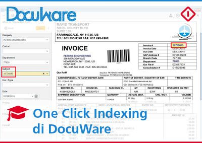 Grazie al One Click Indexing di DocuWare archiviare i documenti è sempre più facile!
