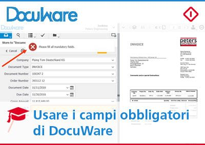 Campi obbligatori in DocuWare: come riordinare l'archivio