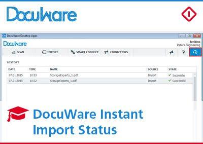 DocuWare Instant Import Status: la funzione per trovare subito i tuoi documenti