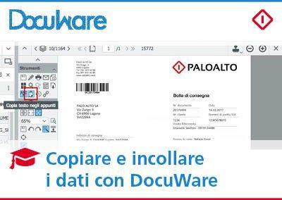 Copiare i dati con DocuWare: trasferire contenuti in un'applicazione esterna con un click
