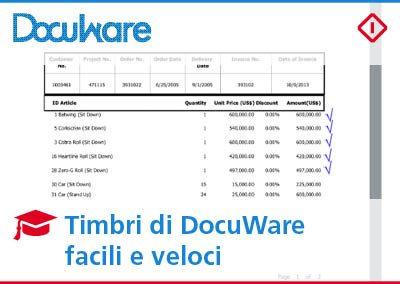 Timbri di DocuWare: timbrare i tuoi documenti non è mai stato così semplice